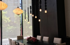Banyan Tree Hotel KL dining room lighting