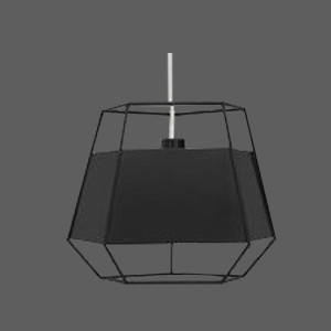 Black pendant light with black shades