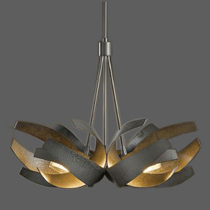 Black abstract pendant light