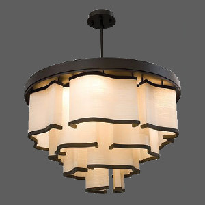 Beige abstract pendant light