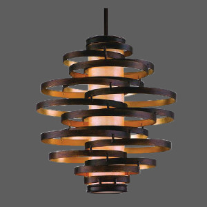 Black abstract right pendant light