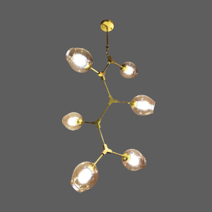 Gold branch pendant light