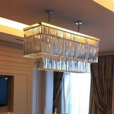 Silver chandelier lighting