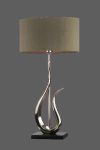 Table lamp -Olive green shade