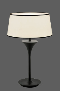Table lamp with short white shade