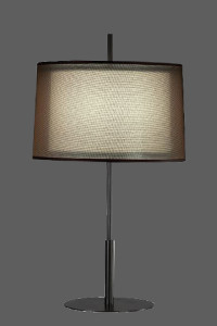 table lamp with gauzy black shade