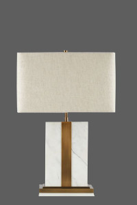 table lamp with beige shade