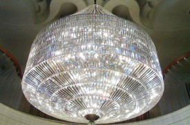 THE CHATEAU RESORT Chandelier in silver