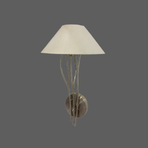 Wall light with beige shade