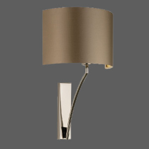 bronze wall light with brown shade