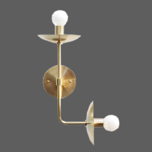 Dual ended gold wall light