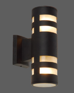 Black capsule design outdoor landscape light