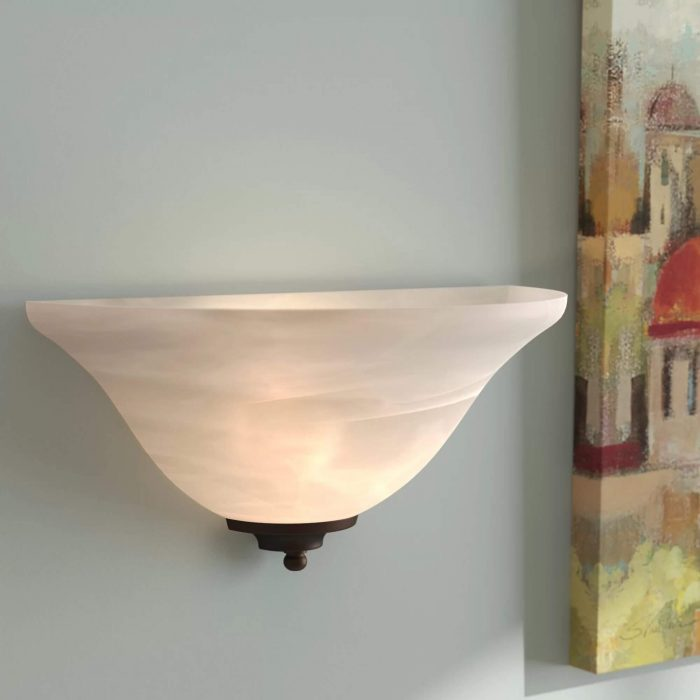 Half-moon wall light
