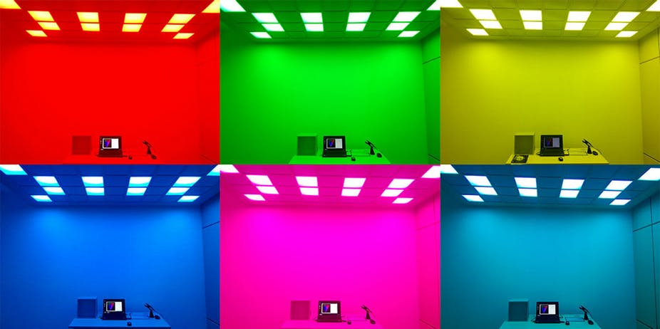 lighting colour can affect emotion