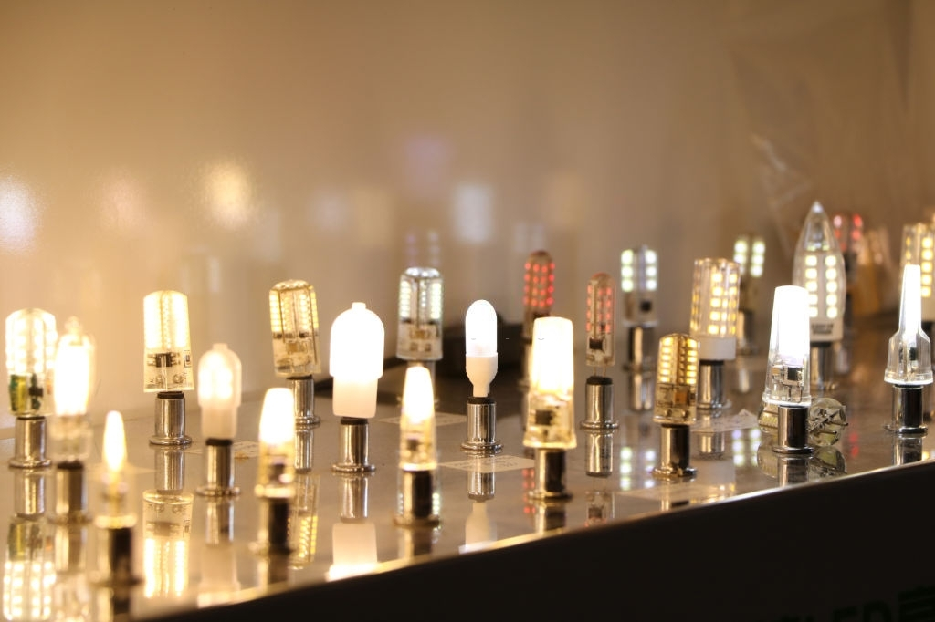 Energy-saving led lamps at the exhibition
